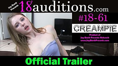 OFFICIAL TRAILER - #18-61 18yo Rough Millenial Creampie - Grown Man Dick T