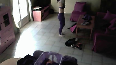 IP Camera-Sporty Teen Changing