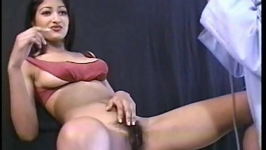 Indian with Hairy pussy gets fucked by white dick