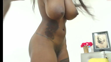 Perfect young busty ebony naked in HD