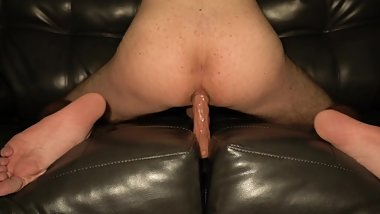 Riding My Big New Dildo And Stretching My Ass Hole!!
