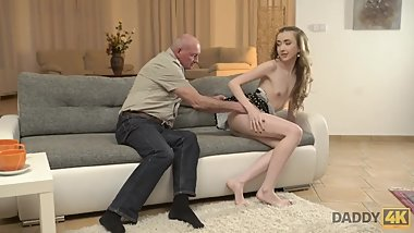 DADDY4K. Old man still able to satisfy young sluts like son's new GF