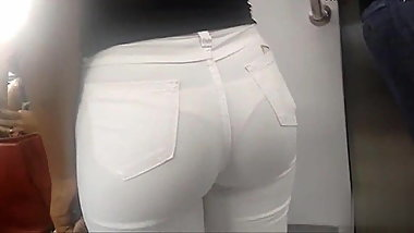 WHITE JEANS AND PANTIES