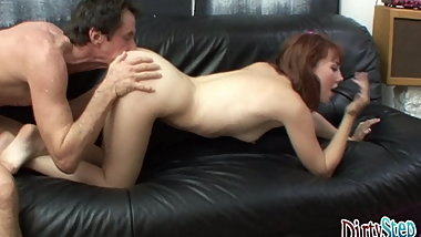 DirtyStepDaughter - Gives Tutor A Lesson In Handling A Cock