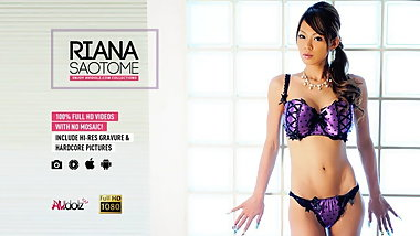 Freaky Asian girl Riana Saotome sucks many tiny fuck sticks