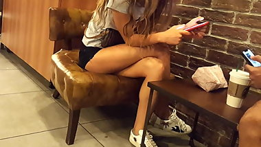 teen sexy long legs perfect crossed