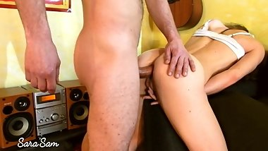 Beauty needs to suck and hard fuck, go destroy and cum in her ass - SaraSam