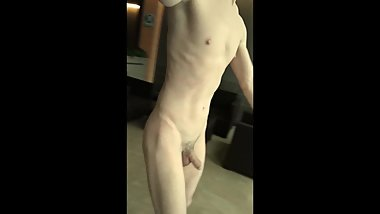 TEEN BOY IS IN SPA WELLNESS NAKED