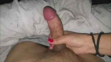I had to make a handjob to the neighbor's son, with a strong squirt, blackm